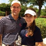 National Adult-Junior Championship Net Third Place Winners Jamey and Julia Wallace