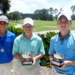 Elite Tour Boys 13-15 - Third Place Winner Justin Ortiguera, Champion Jason Duff and Runner-up Tyler Broadus