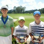 Rising Tour Boys 13-15 - Third Place Winner Rowen Parker, Runner-up James Clay Tucker and Champion Jack Landis