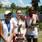 Girls 13-18 Division - Third Place Winner Valentina Rodriguez, Champion Sadie Butler and Runner-up Tori Mouton