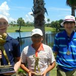 Elite Tour Boys - Champion Tyler Broadus, Runner-up Todd Roy and Third Place Winner Carter Lewis