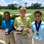Boys 10-12 - Runner-up Andrew Davis, Champion Charles (Andy) Lonsdale and Third Place Winner Will McGriff
