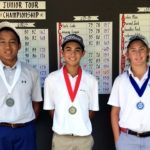 Elite Tour Boys 13-15 Division - Runner-up Dragon Theam, Champion Justin Ortiguera and Third Place Winner Sam Nicholson