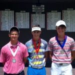 Boys 16-18 Division - Runner-up Conner Dzion, Champion Kyle Jewett and Third Place Winner Austin Morton