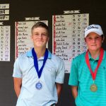 Rising Tour Boys 13-15 Division - Third Place Winner Ford Chandler and Champion Daniel Murphy.